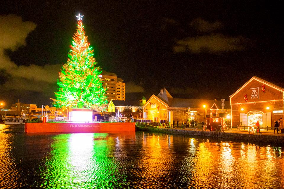 เทศกาล Hakodate Christmas Fantasy ประดับไฟสวยงามริมน้ำกันเลยทีเดียว