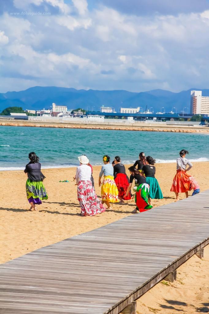 Momochi Seaside Park ชมสวนริมทะเลอ่าวฮากะตะ ฟูกุโอกะ