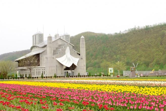 สวน Kamiyubetsu Tulip Park กับดอกทิวลิปมหาศาล วิวลมเย็นๆ แดดดีๆ ล้อมรอบอาคารสวยๆ