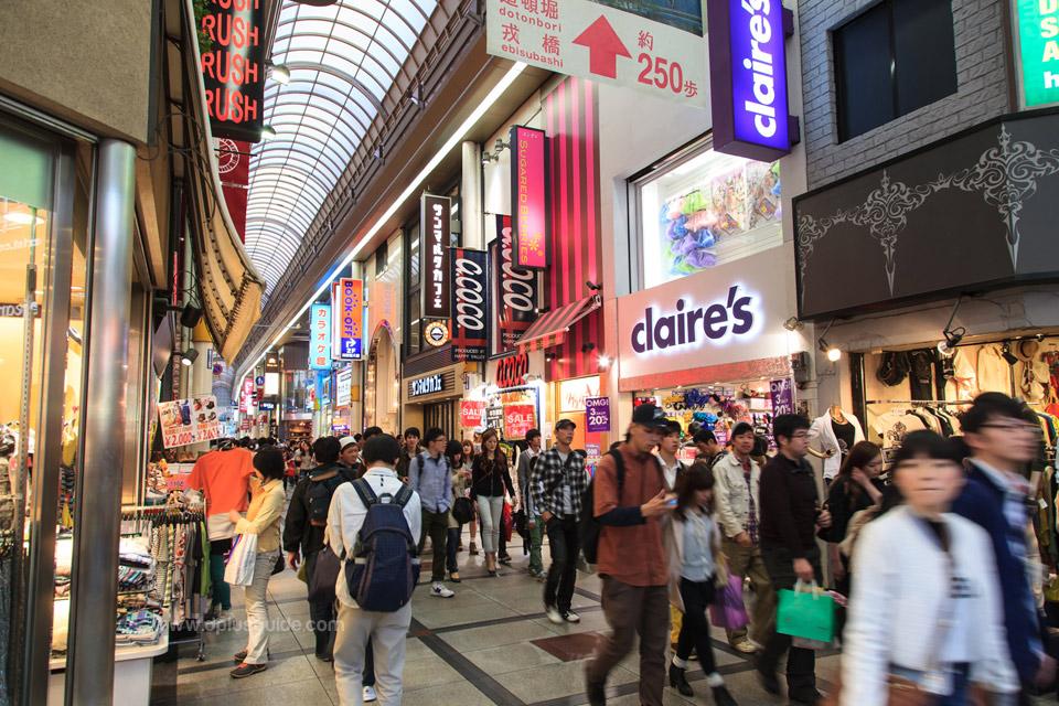 Shinsaibashisuji (Osaka) แหล่งช้อปปิ้งที่ญี่ปุ่น