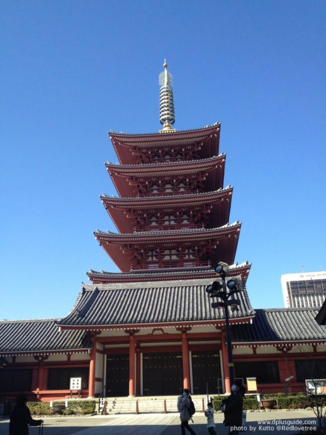 เที่ยวโตเกียว ขอพรเจ้าแม่กวนอิมทองคำ ที่วัดเซนโซจิ (Senso-ji Temple) หรือวัดอาสะกุสะ (Asakusa)