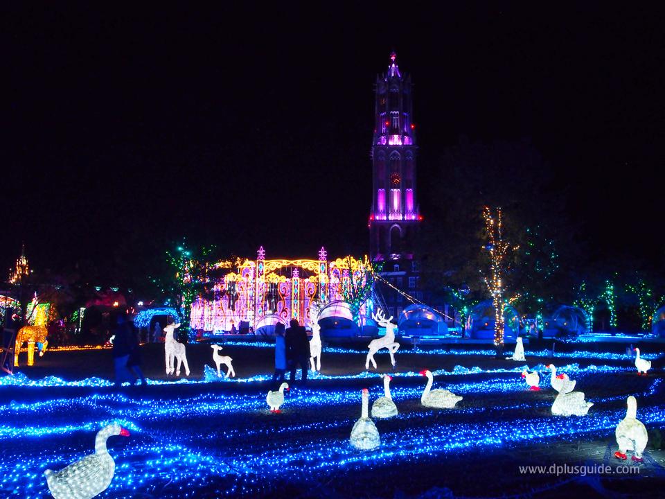 """เที่ยวญี่ปุ่นหน้าหนาว """"The Kingdom of Light"""" งานประดับไฟอลังการ ณ Huis Ten Bosch 31 ต.ค. - 13 เม.ย. 58"""
