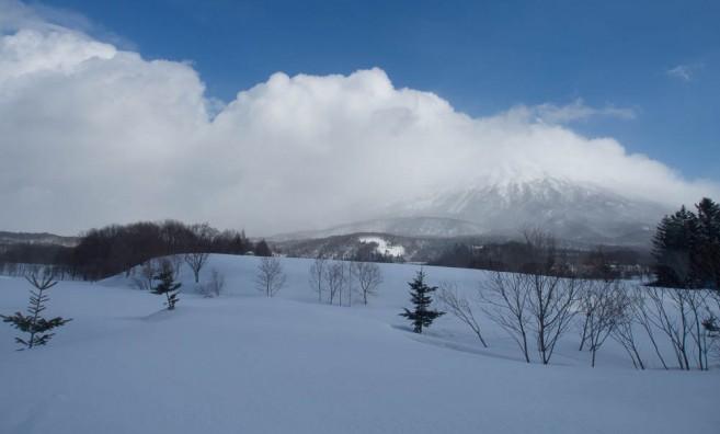 เที่ยวฮอกไกโดหน้าหนาว - ภูเขาโยเท (Mt. Yotei) มองจาก Niseko