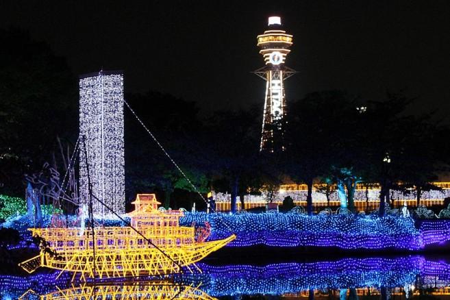 เที่ยวญี่ปุ่นฤดูหนาว 5 เทศกาลประดับไฟในโอซาก้า Abeno Tennoji Iluminage