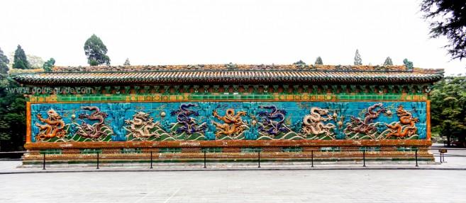 Nine Dragon Wall in Beihai Park, Beijing