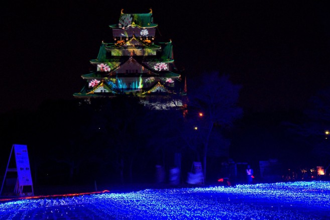 Osaka Castle 3D Projection Mapping Super illumination