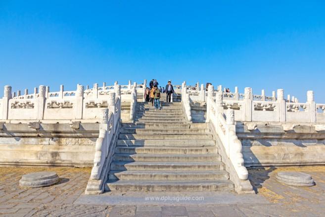 หยวนซิวถาน หรือแท่นบวงสรวงฟ้า หอบูชาฟ้าเทียนถาน ประเทศจีน