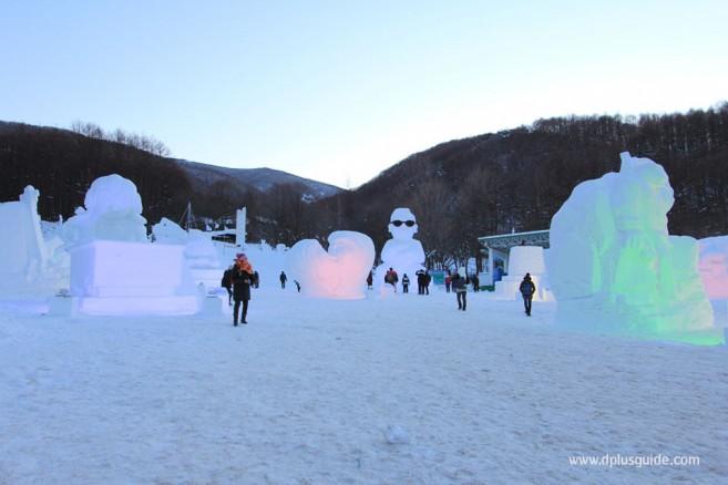 เทศกาลหิมะที่ภูเขาแทแบ็ค (Taebaeksan Mountain Snow Festival) ประเทศเกาหลี