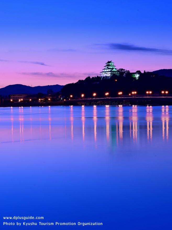 เที่ยวญี่ปุ่น ด้านในปราสาท Karatsu นกกระเรียนร่ายรำแห่งคิวชู