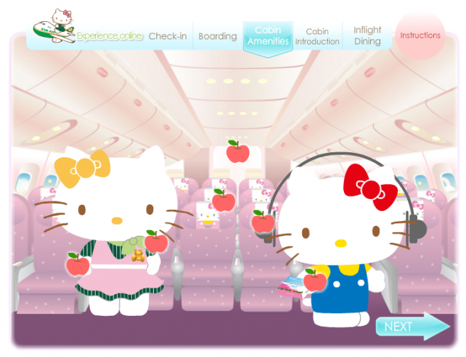 Experience Online EVA Air Kitty Jet