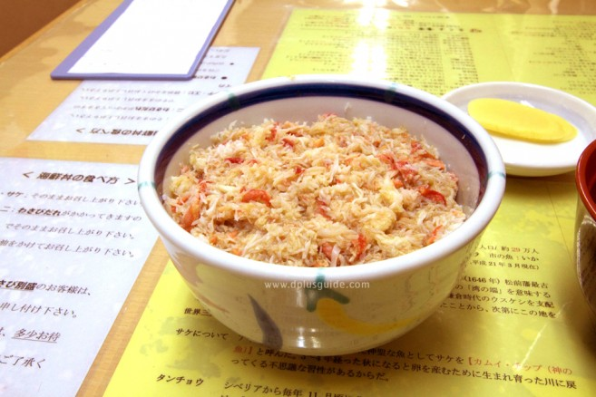 """""""ข้าวหน้าปู+หอยเม่น"""" ร้านคิคุโยะโชกุโด ในตลาดเช้าเมืองฮาโกดาเตะ"""