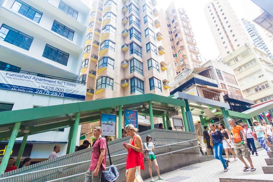 เที่ยวฮ่องกง Central Mid Level บันไดเลื่อนที่ยาวที่สุดในโลก ที่เซ็นทรัลมิดเลเวล