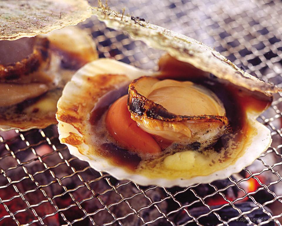 เที่ยวฮอกไกโด เมืองโอตารุ หอยย่างร้อนๆ จากเตา ร้าน Kitano Ryoba Otaru Ungaten