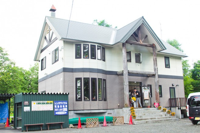 ร้านเช่าจักรยาน Gaido no Yamagoya Shop จุดเริ่มต้นเส้นทางปั่นจักรยานเที่ยวฮอกไกโด Panorama Road ที่ Biei