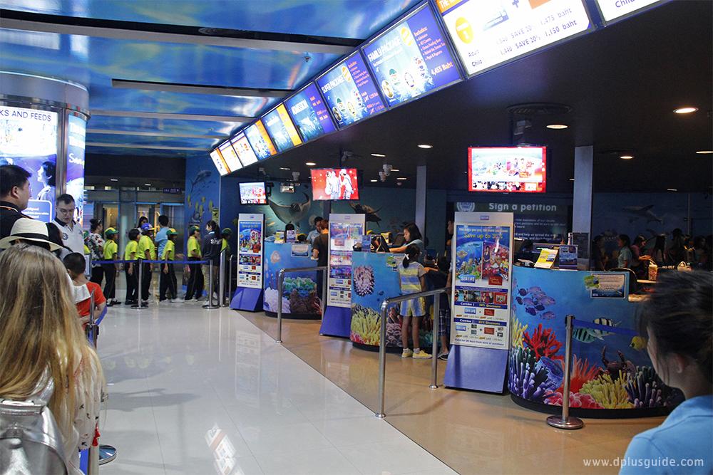 บรรยากาศรอบๆ อควาเรียม SEA LIFE Bangkok Ocean World