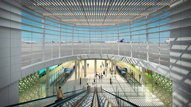 สนามบินสุวรรณภูมิ เฟส 2 ส่วนต่อเชื่อมอุโมงค์ด้านทิศใต้ และระบบขนส่งผู้โดยสาร คาดว่าแล้วเสร็จปี 2562