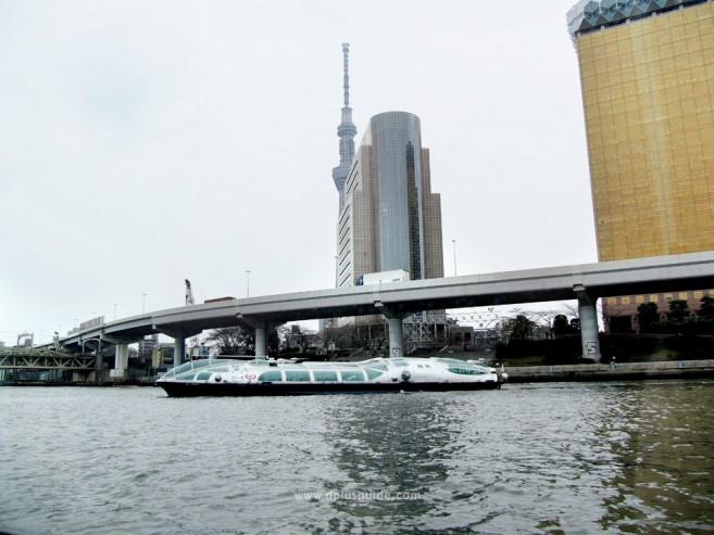 ล่องแม่น้ำเที่ยวโตเกียว หน้าตาเรือของ TOKYO CRUISE ที่จะพาข้ามฟากไปยังที่ต่างๆ