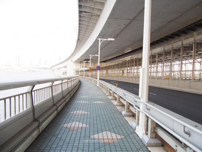 เที่ยวโตเกียว เที่ยวโอไดบะ เดินข้ามสะพานสายรุ้ง (Rainbow Bridge)
