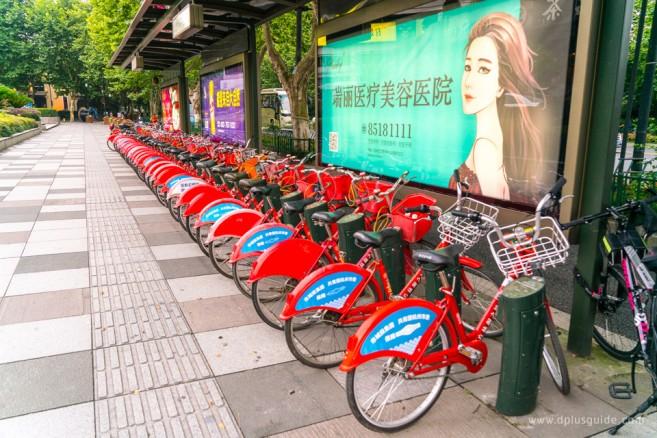 จุดให้เช่าจักรยานในเมืองหังโจว (Hangzhou)