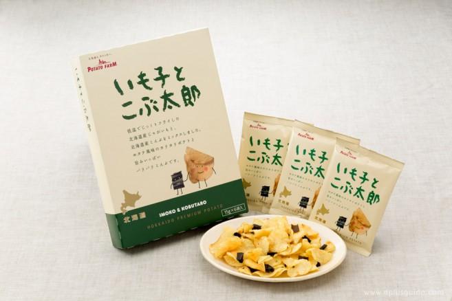 ขนมของฝากจากฮอกไกโด Imoko & Kobutaro มันฝรั่งรสหอยเชลล์ผสมกับสาหร่ายทอดกรอบ