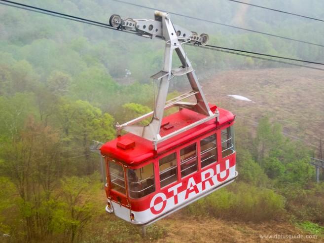 เที่ยวฮอกไกโด รถกระเช้าภูเขาเทงงุ (Tenguyama) เมืองโอตารุ สามารถขึ้นไปชมวิวเมืองและท่าเรือโอตารุได้
