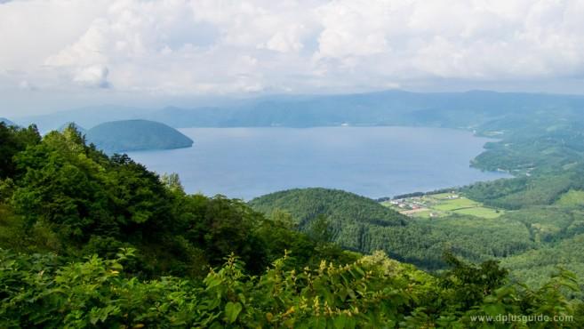 ทะเลสาบโทยะ มองจากสถานีรถกระเช้ายอดเขา Usuzan