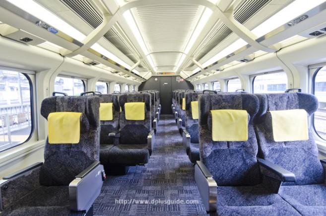 บรรยากาศรถไฟออนเซนเคลื่อนที่ ขบวน Torei-yu Tsubasa ตู้ที่ 1