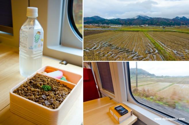 นั่งรถไฟ Torei-yu Tsubasa ชมวิว ไม่มีข้าวกล่องขายบนรถไฟนะจ๊ะ