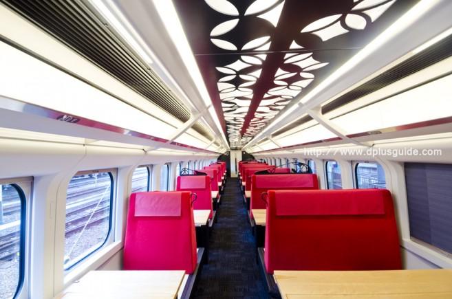 บรรยากาศรถไฟออนเซนเคลื่อนที่ ขบวน Torei-yu Tsubasa ตู้ที่ 2-4