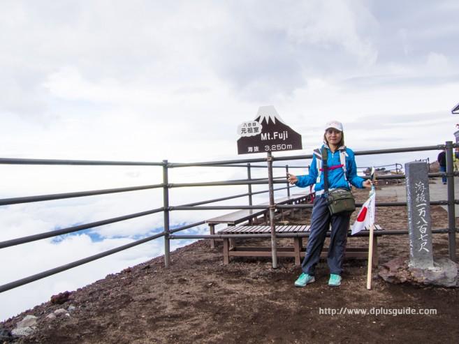 เที่ยวญี่ปุ่น พิชิตภูเขาไฟฟูจิ ที่ตั้งโรงแรมบนภูเขาไฟฟูจิ ระดับความสูง 3,250 m.
