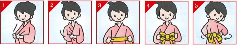 วิธีการใส่ชุดยูคาตะ