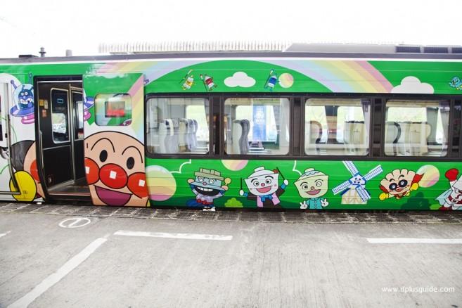 เที่ยวญี่ปุ่น รถไฟพิเศษ ขบวนรถไฟอันปังแมน Anpanman Dosan Line
