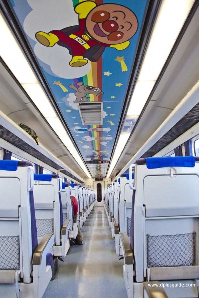 เที่ยวญี่ปุ่น นั่งรถไฟ Anpanman Dosan Line