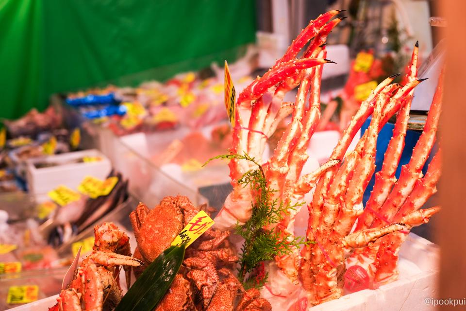 รีวิว เดินเที่ยว เดินกินที่ตลาดปลาสึกิจิ (Tsukiji) ขาปูยักษ์