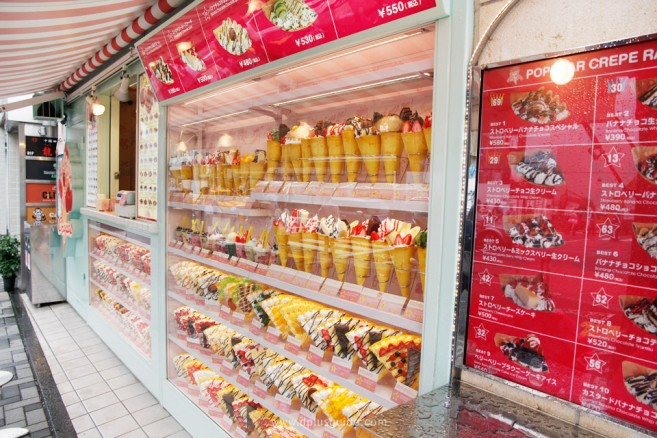 เที่ยวญี่ปุ่น ร้าน SANTA MONICA Crepes ถนนทาเคชิตะ (Takeshita)