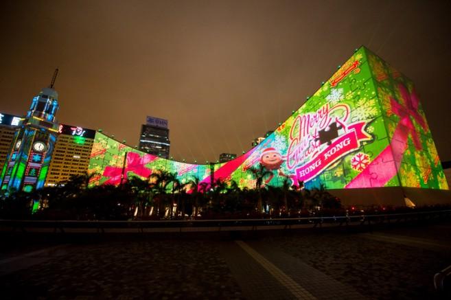 โชว์แสงสีเสียงสามมิติ Hong Kong Pulse 3D Light Show (ฮ่องกง พัลซ์ ทรีดี ไลท์ โชว์)