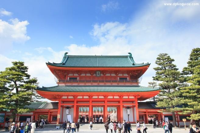 เที่ยวญี่ปุ่น เที่ยวคันไซ เที่ยวเกียวโต ศาลเจ้า Heian