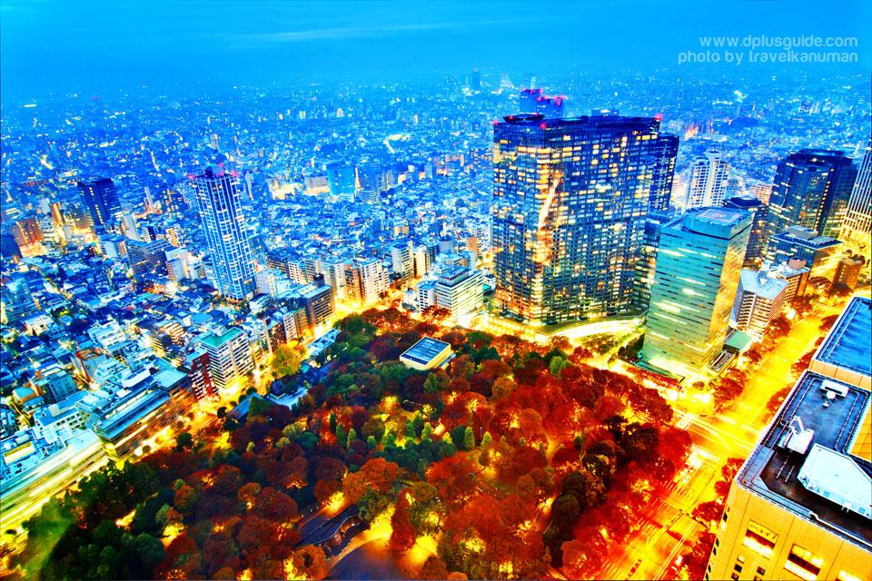 สวนชินจุกุเกียวเอน (Shinjuku Gyoen, Shinjuku Imperial Park) สวนสาธารณะใหญ่ที่สุดในโตเกียว เป็นจุดชมซากุระสวยที่สุดแห่งหนึ่ง มีสายพันธุ์ซากุระมากกว่า 10 สายพันธุ์ กว่า 1,500 ต้น