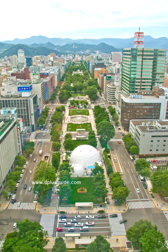 เที่ยวฮอกไกโด ชมสวนสาธารณะโอโดริ (Odori Park) สวนใจกลางเมืองซัปโปโร