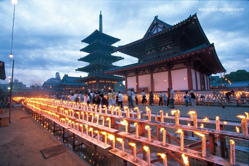 เที่ยวญี่ปุ่นชมวัดเก่า ชิเทนโนจิ (Shitennoji Temple) ที่โอซาก้า (Osaka)