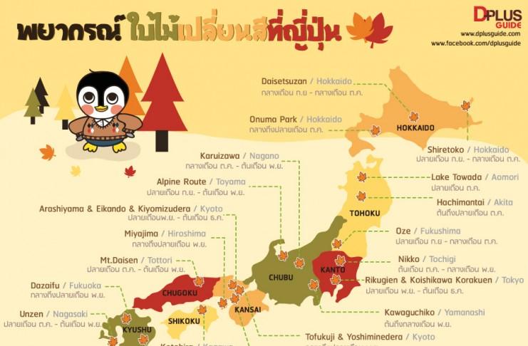 เที่ยวญี่ปุ่นฤดูใบไม้ร่วง พยากรณ์ใบไม้เปลี่ยนสีที่ญี่ปุ่น