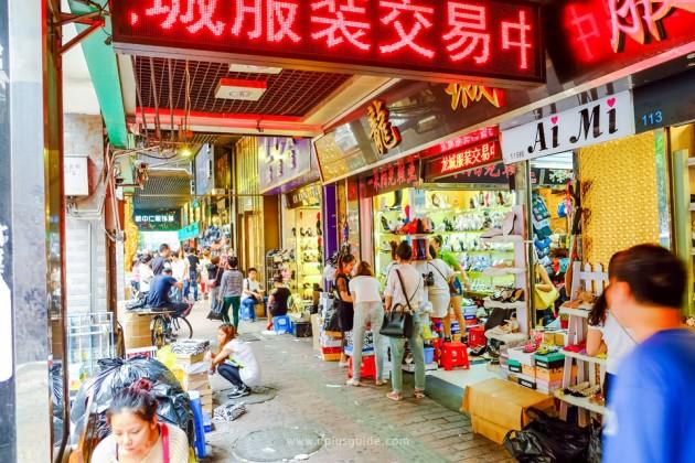 เที่ยวจีน ช้อปสินค้าส่ง ที่กวางโจว ย่าน Shisanhang (สือซันหัง) แหล่งรวบรวมตลาดค้าส่งเสื้อผ้าแฟชั่น