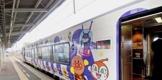 เที่ยวญี่ปุ่น รถไฟพิเศษ ขบวนรถไฟอันปังแมน Anpanman Yosan Line ในญี่ปุ่น