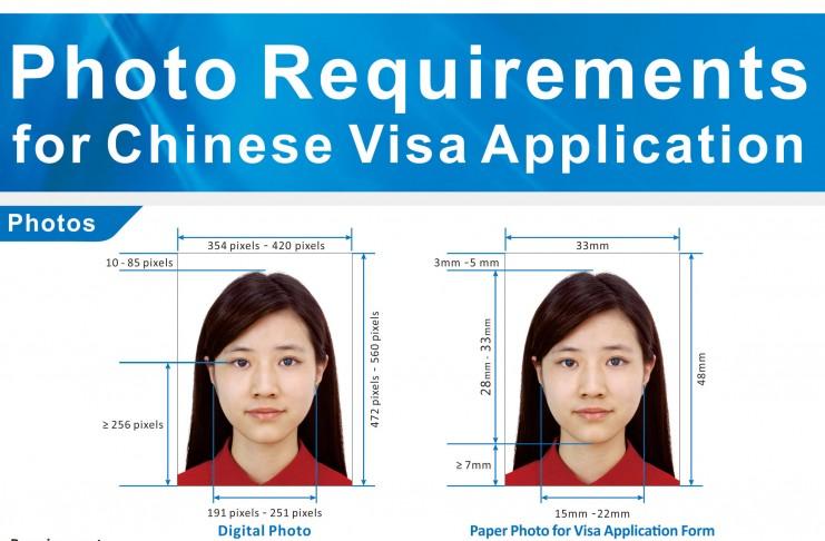 ระเบียบใหม่ รูปภาพสำหรับการยื่นขอวีซ่าจีน