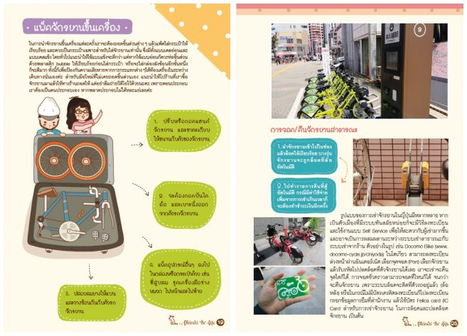 """ตัวอย่างภายในเล่ม หนังสือ """"ปั่นญี่ปุ่น"""" โดย DPlus Guide Team (สำนักพิมพ์ DPlus Guide)"""