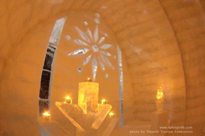 เที่ยวฮอกไกโด โบสถ์น้ำแข็ง ท่ามกลางหิมะและอากาศหนาว ทะเลสาบชิคาริเบ็ตสึ (Shikaribetsu Lake Village)