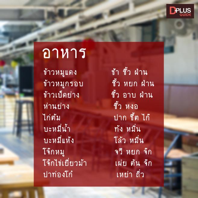 คำศัพท์อาหาร ภาษาจีนกวางตุ้ง