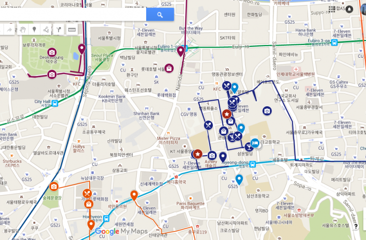 วิธีปักหมุดลงในแผนที่ส่วนตัวใน Google Map