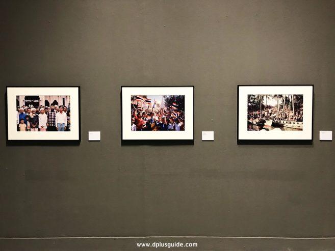 นิทรรศการภาพถ่ายฝีพระหัตถ์พระบาทสมเด็จพระปรมินทรมหาภูมิพลอดุยเดช ช่วงกลางรัชกาล อยู่บริเวณชั้น 9 หอศิลปวัฒนธรรมแห่งกรุงเทพมหานคร