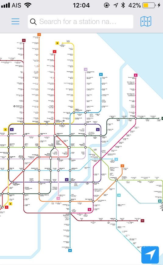 แอพพลิเคชั่น Shanghai Metro Map and Route Planner (SH Metro)